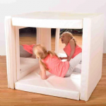 Mirrored Soft Play Den White